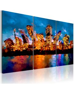 Obraz - Mad  city - triptych