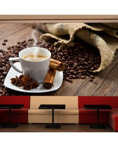 Fototapeta - Star anise coffee